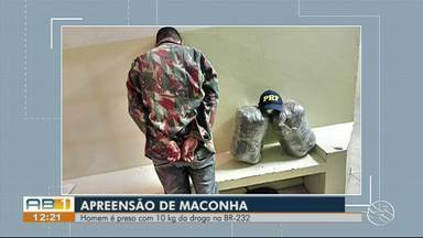 Homem é detido com 10 kg de maconha dentro de carro em São Caetano - Motorista informou que havia sido contratado para realizar o transporte da droga, diz PRF.