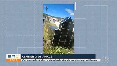 Visitantes reclamam de falta de manutenção e de espaço em cemitério no oeste do estado - O local fica na cidade de Anagé. Uma telespectadora fez um vídeo denunciando a situação.