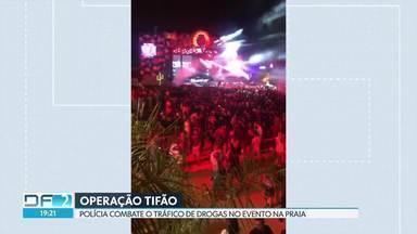 Polícia faz operação contra tráfico de drogas no evento Na Praia - Três adolescentes foram apreendidos por tráfico de drogas.