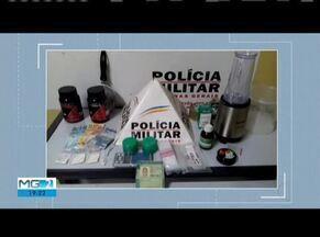 Homem é preso vendendo cocaína para adolescente em Governador Valadares - Mãe do adolescente passou a suspeitar dos encontros entre o filho e o autor preso; na casa do homem, PM encontrou um 'laboratório' de drogas.