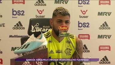 Gabigol torce pela chegada de Balotelli no Flamengo - Gabigol torce pela chegada de Balotelli no Flamengo