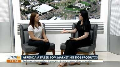 Especialista em marketing digital em RR dá dicas para alavancar os negócios - Sheila Carneiro, instrutora de negócios do Senac Roraima, fala sobre a importância de saber e como divulgar produtos na web.