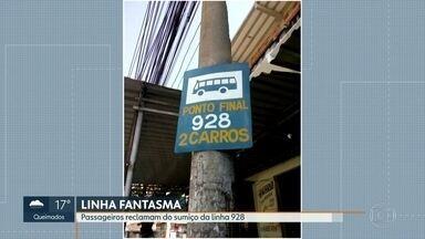 Passageiros reclamam de sumiço dos ônibus em Marechal Hermes - Linha 928, que liga Marechal Hermes a Ramos, desapareceu há mais de um ano, segundo passageiros