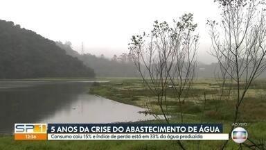 Cinco anos após crise de abastecimento, consumo de água caiu 15% - Em 2014, a perda no sistema de abastecimento da Sabesp, por causa de vazamentos, chegava a 40%. Hoje está em 33%.