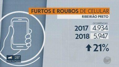 Roubo e furto de celular crescem no primeiro semestre em Ribeirão Preto, SP - Em média, 16 pessoas relatam esse problema à PM por dia na cidade.