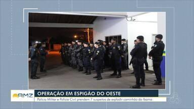 Policias Militar e Civil cumprem mandados em área rural de Espigão do Oeste - Mais de 100 policias participaram de operação para cumprir mandados de prisão preventiva, busca e apreensão