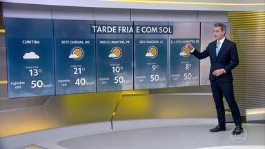 Tarde continua gelada no centro-sul do país - Temperaturas só devem subir a partir de sábado (17)