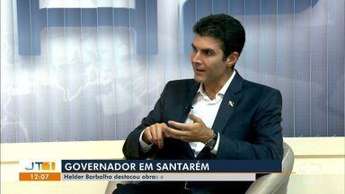 Em entrevista à TV Tapajós, governador Helder fala sobre ações do Estado em Santarém - Entrevista foi ao ar no Bom dia Tapajós desta quarta-feira (14).
