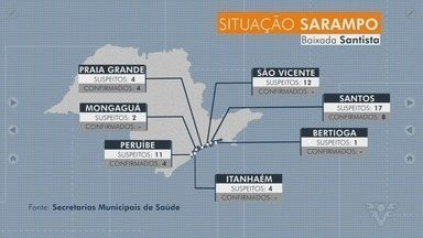 Cidades da Baixada Santista registram novos casos confirmados e suspeitos de sarampo - Novos bloqueios vacinais são realizados nos municípios.