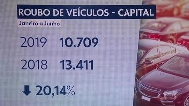 Dois carros são roubados por hora na capital - Somente nos seis primeiros meses de 2019, foram mais de 10 mil roubos.