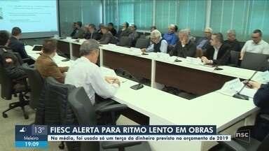 Em reunião, Fiesc alerta para ritmo de obras em rodovias de SC - Em reunião, Fiesc alerta para ritmo de obras em rodovias de SC