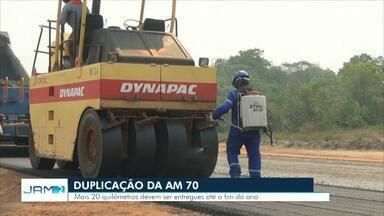 Governo diz que 20 quilômetros de obras da AM-070 serão entregues até o fim de 2019 - Rodovia liga a capital Manaus aos municípios de Iranduba, Manacapuru e Novo Airão