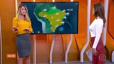 Previsão é de chuva forte no Espírito Santo nesta quinta-feira - Veja como vai ficar o tempo em todo o país.