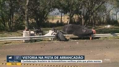 Confederação Brasileira de Automobilismo vistoria pista de arrancadão em Chapecó - Confederação Brasileira de Automobilismo vistoria pista de arrancadão em Chapecó