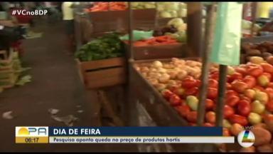 Dieese aponta que os preços de hortaliças, legumes e verduras ficaram mais em conta - O Balanço feito pelo DIEESE/PA mostra que mesmo com o recuo observado no mês passado (junho).