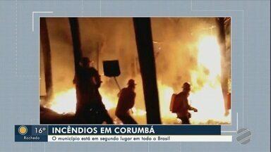 Corumbá está em segundo lugar entre os municípios de todo o Brasil com mais queimadas - Corumbá está em segundo lugar entre os municípios de todo o Brasil com mais queimadas.