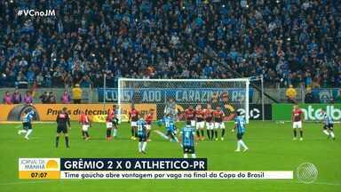 Copa do Brasil: Grêmio bate o Athlético-PR por 2 a 0 - Time gaúcho abriu vantagem na disputa por vaga na semifinal.