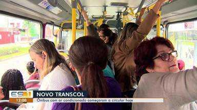 Ônibus do Transcol com ar-condicionado começaram a circular hoje na Grande Vitória - São 26 ônibus com ar-condicionado e sinal de wi-fi.