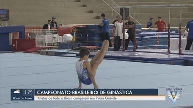 Ginastas de todo o Brasil competem em Praia Grande, SP - Campeonato Brasileiro de Ginástica Artística acontece na cidade.