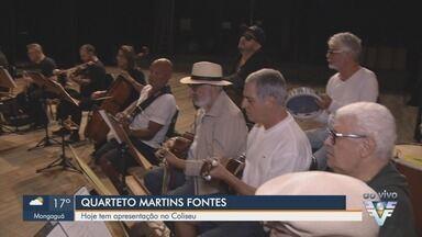 Quarteto de Cordas Martins Fontes se apresenta no Coliseu de Santos, SP - Apresentação ocorre na noite desta quinta-feira (15).