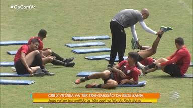 Vitória se prepara para encarar o CRB no domingo (18) pela Série B - Confronto será transmitido pela TV Bahia, às 16h.