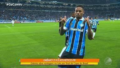 Grêmio vence Atlhetico-PR e abre vantagem na disputa para chegar à final da Copa do Brasil - Confronto ocorreu na noite de quarta-feira (14).