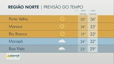 Confira a previsão do tempo para a Região Norte nesta quinta-feira (15) - Confira a previsão do tempo para a Região Norte nesta quinta-feira (15).