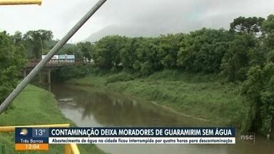 Contaminação deixa moradores sem água em Guaramirim - Contaminação deixa moradores sem água em Guaramirim