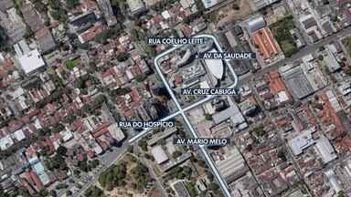 Mudança de circulação é implantada no trânsito do Recife - Alteração ocorre no bairro de Santo Amaro.