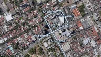 Cruzamento das avenidas Mário Melo e Cruz Cabugá tem proibição de giro à esquerda - Mudança começou a valer neste sábado (17).