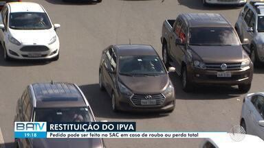 BA teve cerca de 18,5 mil veículos furtados em 2018; donos podem pedir devolução de IPVA - Das pessoas que tinham direito à devolução, apenas 2% receberam restituição no ano passado.