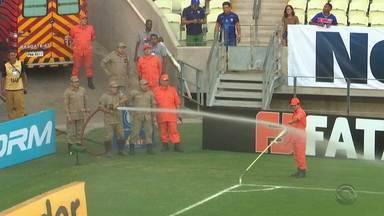 Inter bate o Fortaleza e vence a primeira fora de casa no Brasileirão - Wellington Silva marcou o único gol da partida, marcada por atraso provocado por presença de abelhas no Castelão.
