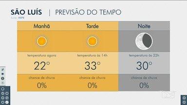 Veja as variações das temperaturas no Maranhão - Confira a previsão do tempo nesta segunda-feira (19) em São Luís e também no interior do estado.