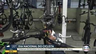 Embarque de bicicletas nos trens da CPTM quadruplicou nos últimos dez anos - Dados da CPTM mostram que modalidade se desenvolveu em São Paulo.