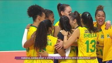 Com retornos de Fabiana, Camila Brait e Sheilla, Brasil vence a Argentina em amistoso - Com retornos de Fabiana, Camila Brait e Sheilla, Brasil vence a Argentina em amistoso