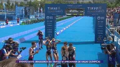 Brasileiros do triatlo se aproximam de vagas olímpicas após evento-teste no Japão - Brasileiros do triatlo se aproximam de vagas olímpicas após evento-teste no Japão