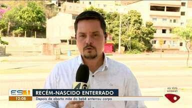 Depois de aborto, mãe enterra corpo do filho na zona rural de Vila Pavão, ES - Corpo de recém-nascido foi enterrado no meio da mata.