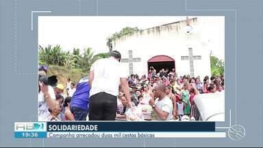 Padre da paróquia de Tamandaré cria campanha e arrecada alimentos para pessoas carentes - Muitos alimentos foram doados através da campanha.
