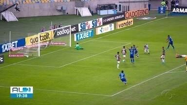 CSA comemora vitória contra o Fluminense - Azulão ganhou em jogo no Maracanã.