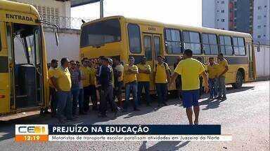 Motoristas de transporte escolar paralisam atividades em Juazeiro do Norte - Saiba mais em g1.com.br/ce