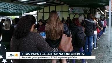 Oktoberfest vai gerar pelo menos 2.500 vagas temporárias - Oktoberfest vai gerar pelo menos 2.500 vagas temporárias