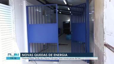 Hospital Raul Sertã, em Nova Friburgo, teve novos picos de luz - Quedas de luz novamente.