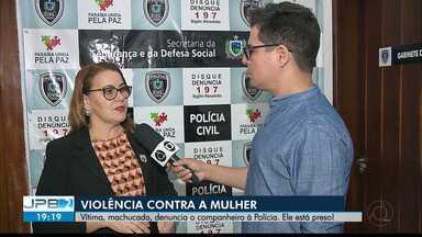 JPB2JP: Mais um caso de violência contra a mulher em João Pessoa - Vítima, machucada, denuncia o companheiro à Polícia. Ele está preso!