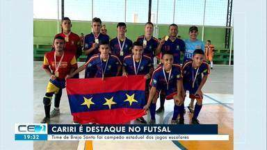 Time de Brejo Santo foi campeão estadual dos jogos escolares - Confira mais notícias em g1.globo.com/ce