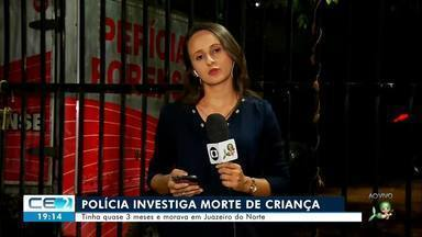 Polícia investiga morte de criança; grupo furta pizzaria em Juazeiro do Norte - Confira mais notícias em g1.globo.com/ce