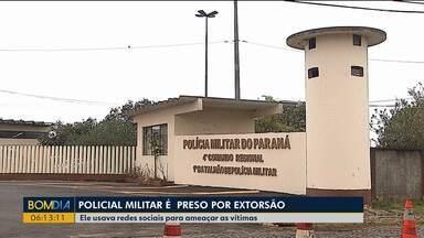 Policial Militar é preso por extorsão - Ele usava redes sociais para ameaçar as vítimas.
