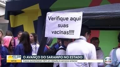 Casos de sarampo aumentam no Estado - Novo boletim epidemológico divulgado pela Secretaria Estadual de Saúde registra 1.790 casos confirmados.