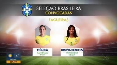 Coloradas, Fabi Simões e Bruna Benitez são convocadas para Seleção feminina - A gaúcha Mônica também está no time.