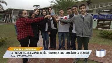 Alunos de São Francisco Xavier são premiados por criação de app - App desenvolvido auxilia turistas que vão ao distrito.