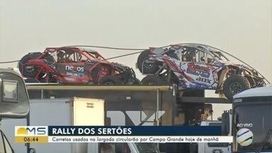 Carretas usadas na largada do Rally dos Sertões vão circular por Campo Grande - Veículos vão passar em várias regiões da cidade na manhã desta quarta-feira (21).